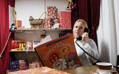 Sinterklaaskamer als studio bij feestwinkel